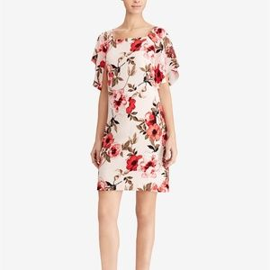 NWT American Living Floral-Print Flutter-Sleeve